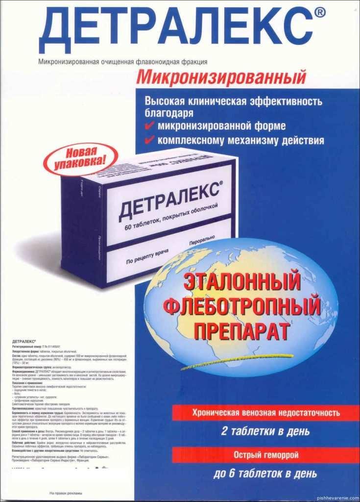 Инструкция препарата детралекс